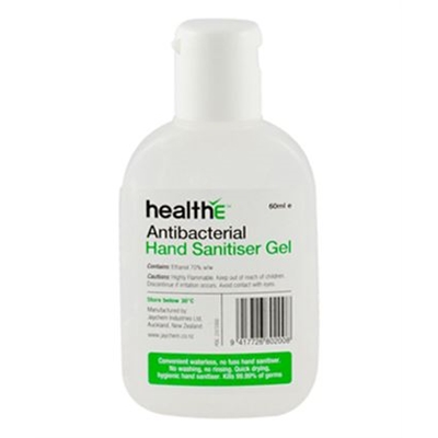 healthE Antibacterial Hand Sanitiser Gel 60ml