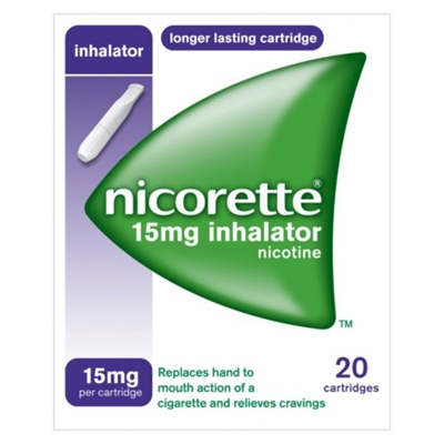 Nicorette Inhalator 15mg Cartridges 20