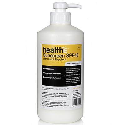 healthE Sunscreen SPF40 with Insect Repellent 1L