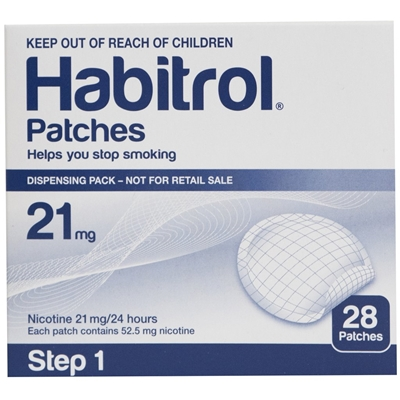 Habitrol Transdermal Nicotine Patch Step 1  21mg 28